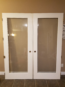 """34"""" Solid wood French doors (indoors)"""