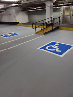 Parking Lot Line Painting/ Pavement marking