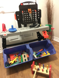 Toy workbench with TONS of accessories, even powertools!!