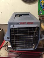 Small pet taxi dog carrier/crate clean