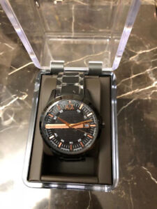 Brand New Armani Men's Watch, scratch resistant mineral crystal