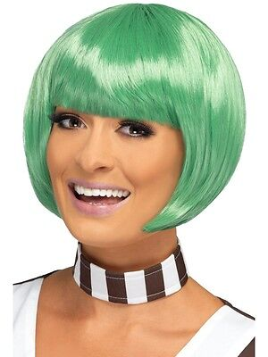 Adult Green Candy Creator Wig Outfit Fancy Dress Ooompa Loompa Umpa Lumpa Ladies (Umpa Lumpa Costume Womens)