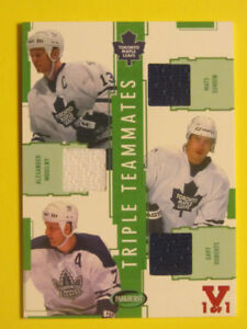 Sundin, Mogilny, Roberts Triple jersey Leafs hockey card  1 of 1