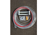 Steel winch rope and roller fairlead