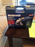 Brand new unopened mastercraft angle grinder with 20 disks