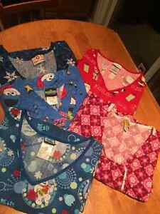 Women's Scrub Tops: 2X