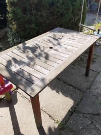 FREE Large wooden garden table. Needs repair.