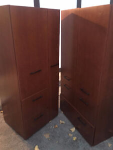 2 New Matching Armoires/wardrobes/file units