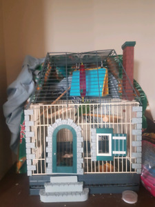 Cool medium sized bird cage and acssories