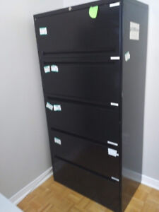 Black Filing Cabinet with 6 Drawer