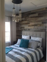 DECORATIVE WOOD WALL INSTALLATION - BE THE ENVY OF YOUR GUESTS