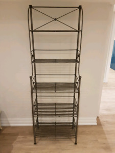 Solid iron Bakers Rack silver finish