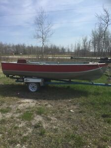 Boat, trailer and trolling motor