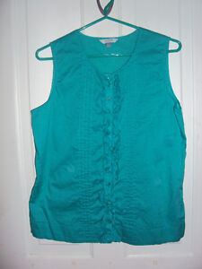 Blue Sleeveless Alfred Sung top Kitchener / Waterloo Kitchener Area image 1