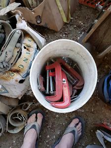 Bucket of c clamps