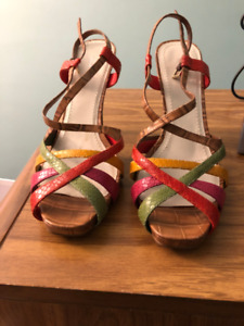 New Nine West Multi Colour Sandal