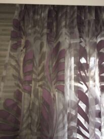 Curtains - voile. New & unused. Lilac/grey. Kobe Skimo fabric. Selling for over £500 less than cost