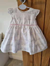 Baby girls Mothercare dress with matching pants up to 3m