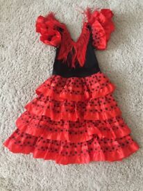 Spanish red Fancy Dress girls age 4 clothes