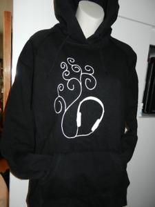 Hoodie noir L-XL