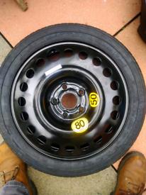 Mokka spare wheel and tools