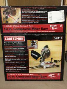 """Craftsman Compound Mitre Saw 10"""" with Laser Trac Feature"""
