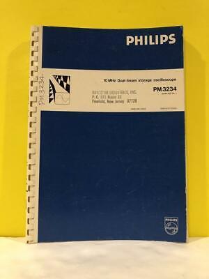 Philips 9499 440 14502 Dual-beam Storage Oscilloscope Pm3234 Instruction Manual