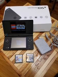 Nintendo dsi with 3 star wars games