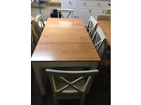 Haversham Dining Table With Storage 6 Wooden Chairs