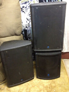 2 Yorkville Monitors and Sub