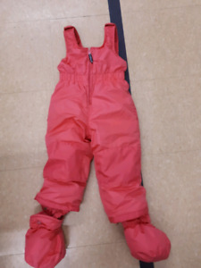24 month pink snow pants $10