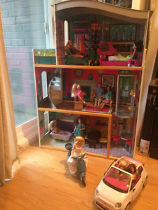 Doll house with elevator & furniture,  Mint condition