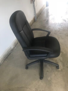 Leather executive office chair - adjustable