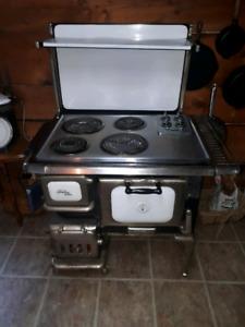 Antique stove and fridge