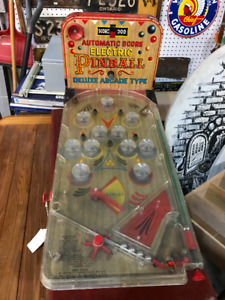 VINTAGE BATTERY ELECTRIC PINBALL ARCADE GAME TABLE TOP