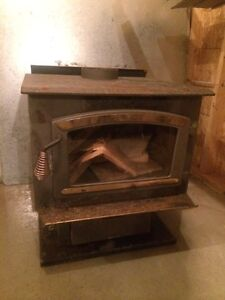 Woodstove with glass door