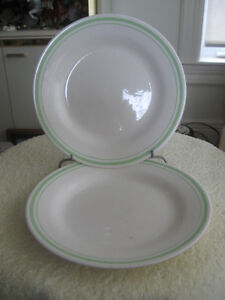 """TWO MATCHING VINTAGE 9 1/4"""" REPLACEMENT DINNER PLATES"""