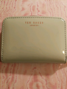 Authentic Ted Baker Omarion Patent Zip Around Mini Purse