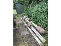 Cement posts and cement base