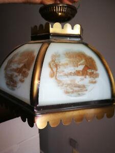 Vintage hanging swag lights