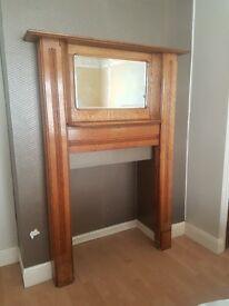 Original Edwardian/Art Deco Oak fireplace surrounding