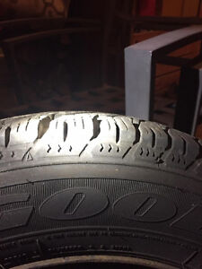 Goodyear Ultra Grip Winter Tires and Rims 195/65r15 Kitchener / Waterloo Kitchener Area image 3