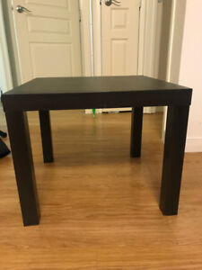 Two LACK side tables
