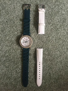 Fossil watch with extra straps