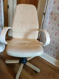 Swivel leather desk / office chair
