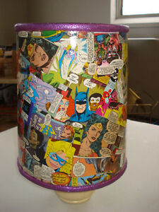Female super action hero lampshade  Hand made one of a kind Peterborough Peterborough Area image 2