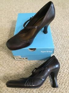 Size 38 (8) Brown Leather Women's Shoes Peterborough Peterborough Area image 7