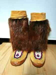 Beautiful handcrafted moccasins from Northern Manitoba