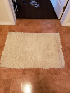 Small white rug