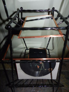 Hipster Retro Metal Hairpin Floor Record Storage Stand